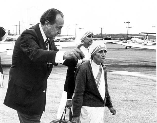 Bob Macauley with Mother Theresa